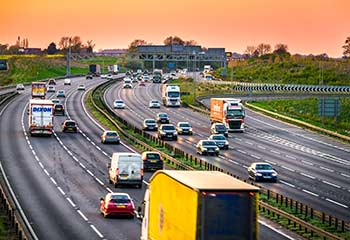 Nationwide same day deliveries being made by motorway