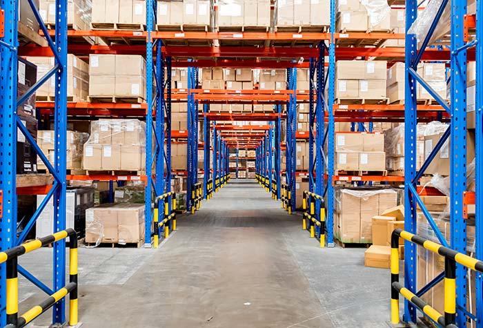 Long term storage warehouse racking